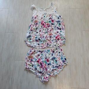 Anthro Floral PJ Set